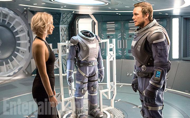 Jennifer Lawrence y Chris Pratt en 'Pasajeros'