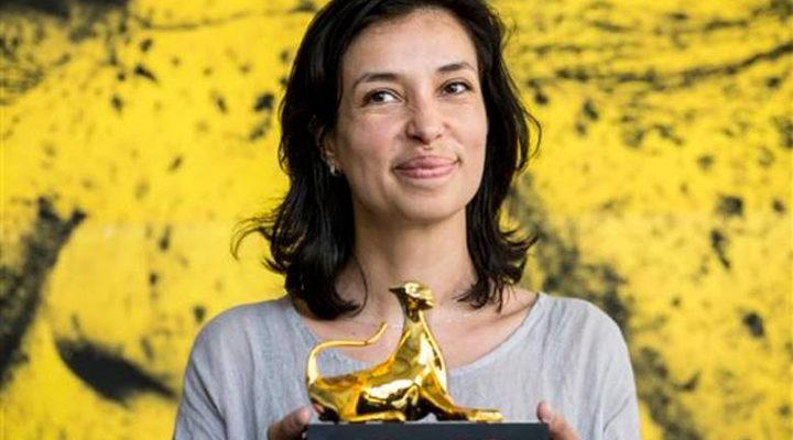 Ralitza Petrova con el Leopardo de Oro