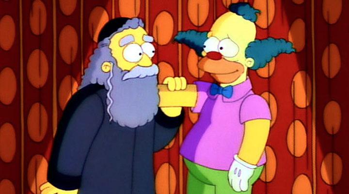 Krusty y su padre en 'Los Simpson