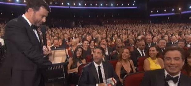 David Schwimmer y Jimmy Kimmel