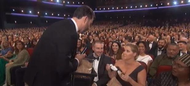 Amy Schumer y Jimmy Kimmel