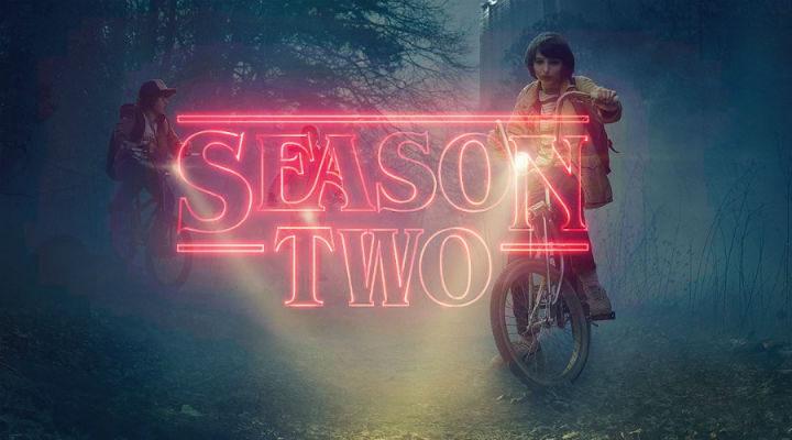 Rótulo de la segunda temporada de 'Stranger Things'