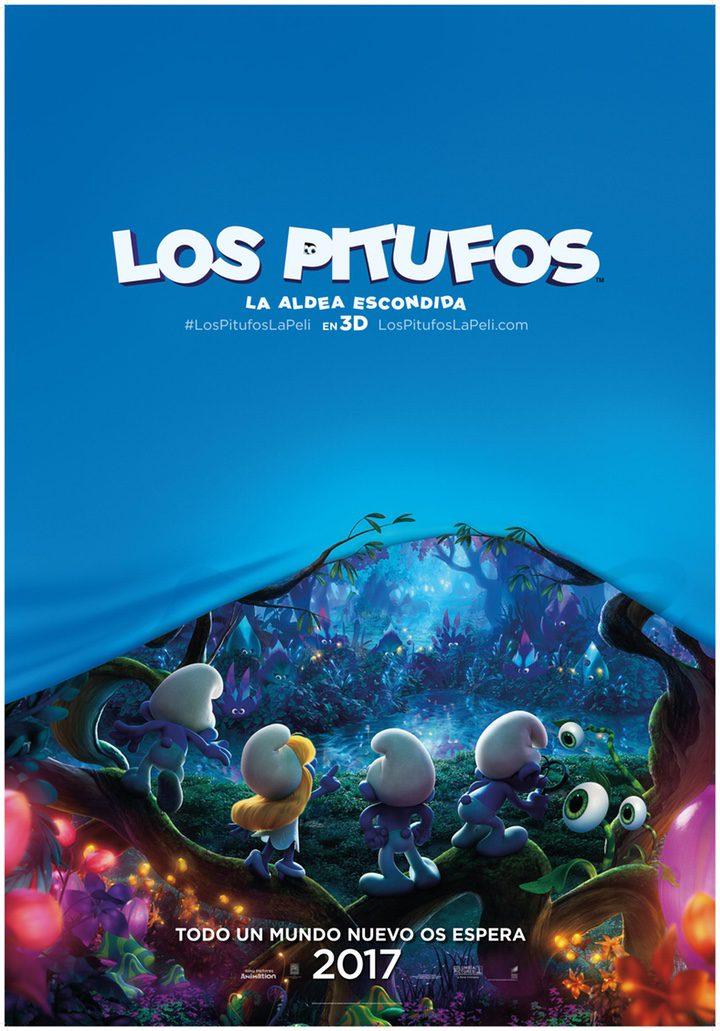 Cartel 'Los Pitufos: La aldea escondida'
