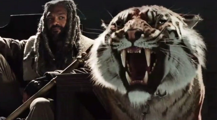 Ezekiel y Shiva en 'The Walking Dead'