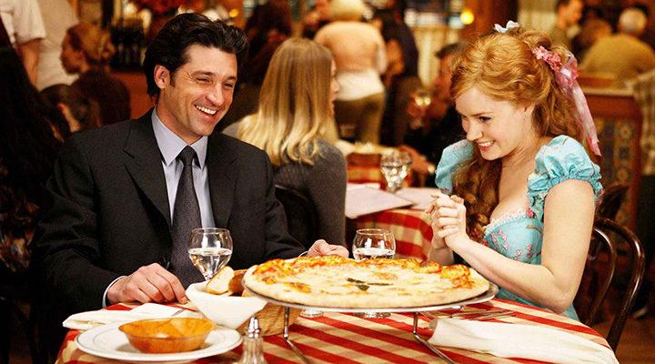 Amy Adams y Patrick Dempsey en 'Encantada'