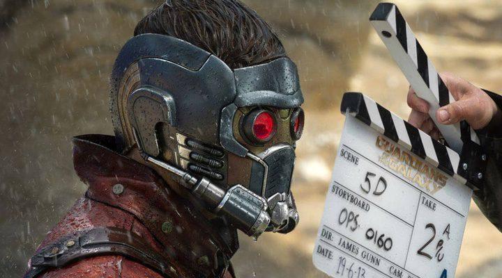 Chris Pratt en el rodaje de 'Guardianes de la Galaxia'