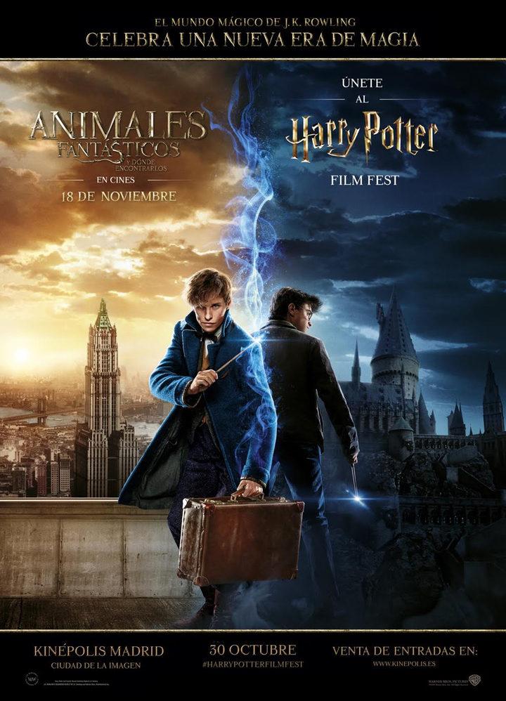 Póster oficial de la maratón 'Harry Potter Film Fest'