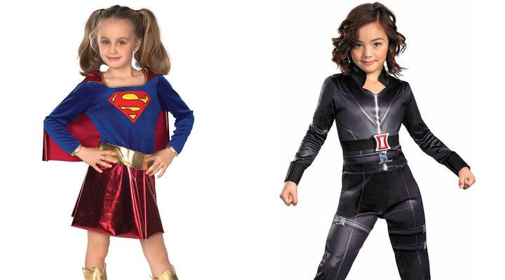 Disfraces de Supergirl y Viuda Negra