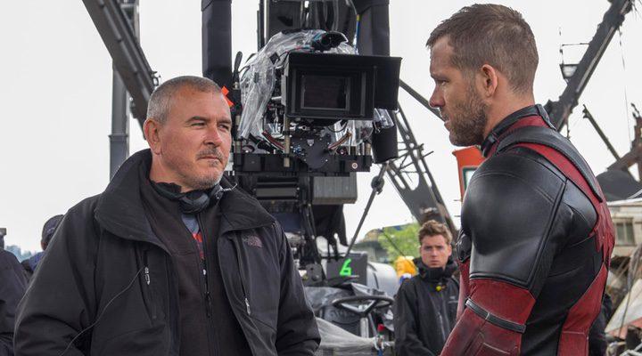Tim Miller y Ryan Reynolds en el set de 'Deadpool'