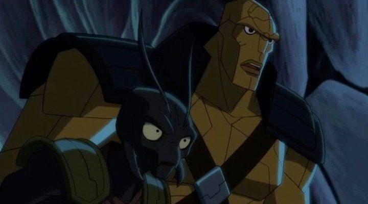 Miek, al frente, y Korg, al fondo, en 'Planet Hulk'