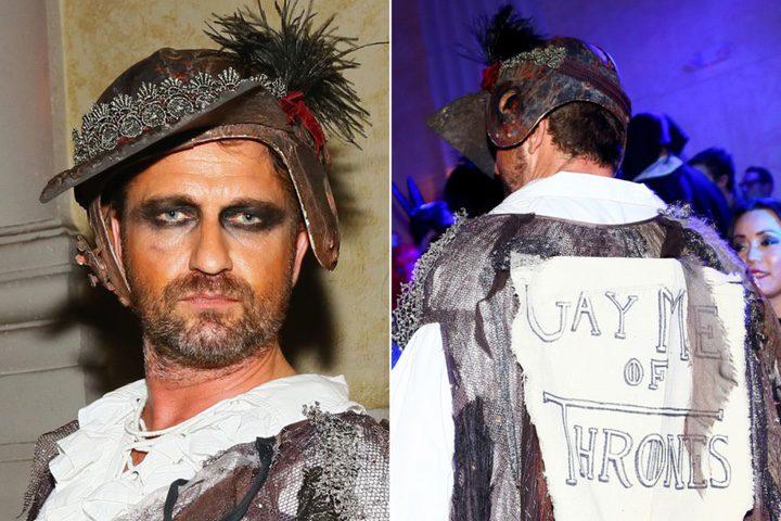 Gerard Butler y su original disfraz