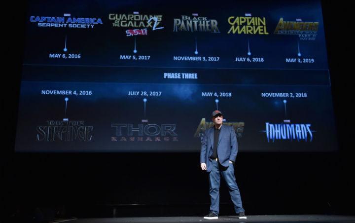 Kevin Feige en la presentación de la Fase 3 original de Marvel