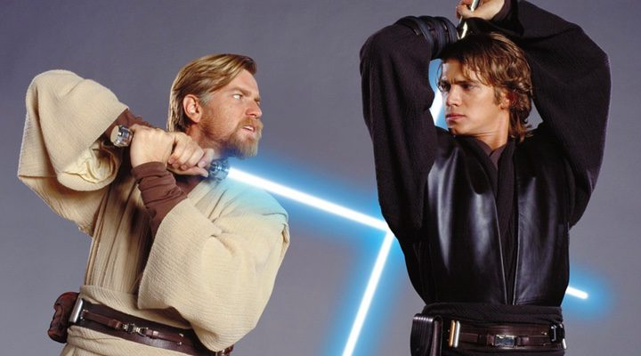 Ewan McGregor y Hayden Christensen como Obi-Wan Kenobi y Anakin Skywalker