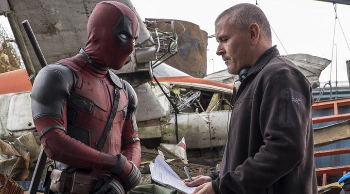 Reynolds y Miller en el rodaje de 'Deadpool'