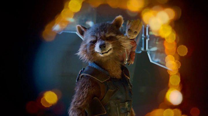 Rocket Racoon y Baby Groot en 'Guardianes de la Galaxia Vol. 2'