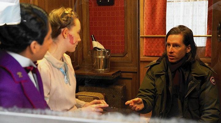 Wes Anderson durante el rodaje de 'El Gran Hotel Budapest'