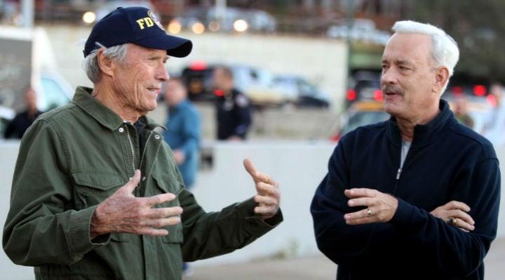 Clint Eastwood y Tom Hanks en el rodaje de 'Sully'