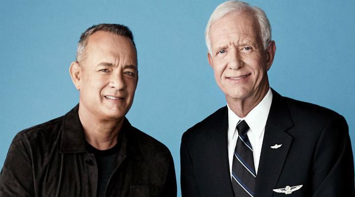 Tom Hanks y Chesley Sullenberger