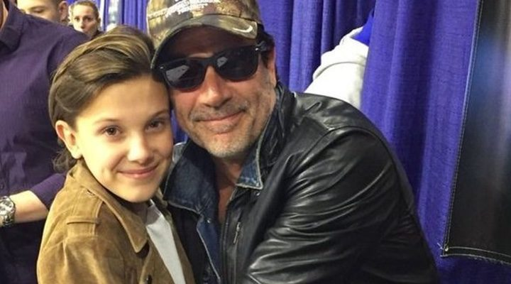 millie bobby Brown y Jeffrey Dean Morgan