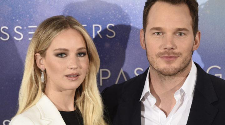 'Chris Pratt y Jennifer Lawrence'