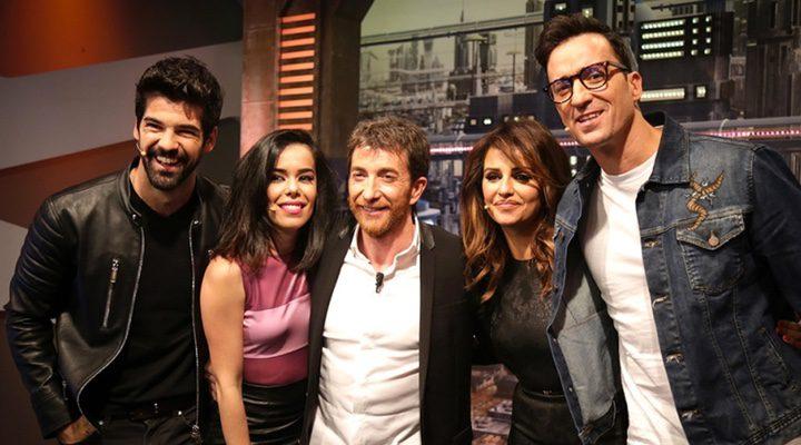 El elenco principal de 'Un paso adelante' durante su reencuentro en 'El Hormiguero'