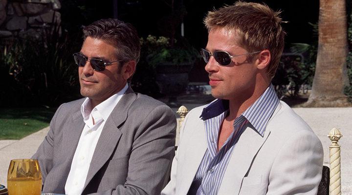George Clooney y Brad Pitt en 'Ocean's Eleven'