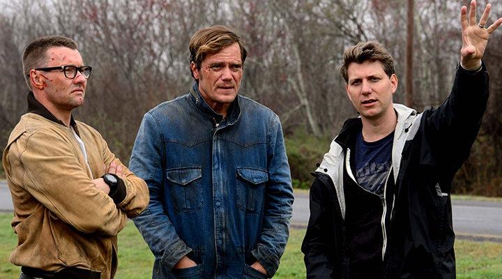 Joel Edgerton, Michael Shannon y Jeff Nichols durante el rodaje de 'Midnight Special'