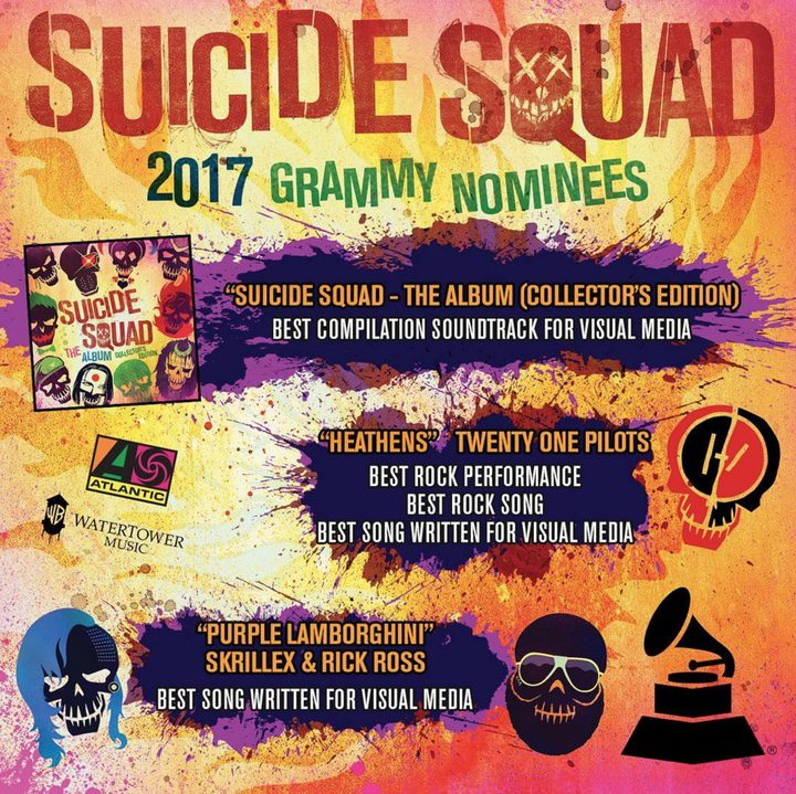 Nominaciones de 'Escuadrón Suicida' a los Grammy