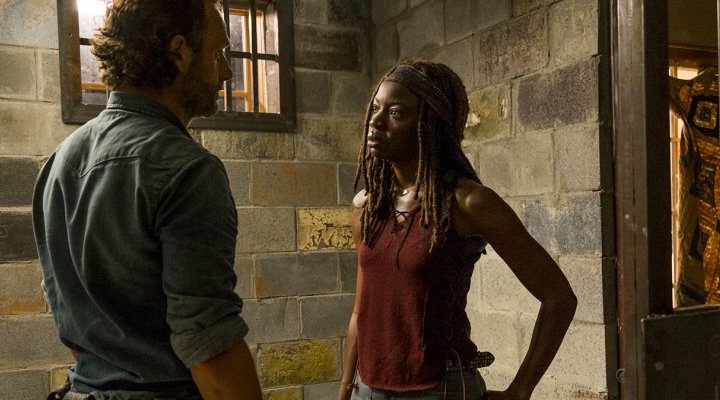 Michonne y Rick en 'The Walking Dead'