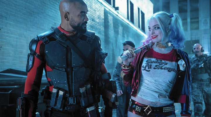 Will Smith y Margot Robbie como Deadshot y Harley Quinn