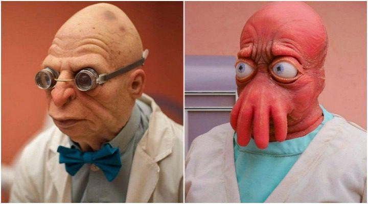 El Profesor Farnsworth y Zoidberg, personajes de 'Futurama', en 'Fan-O-Rama'