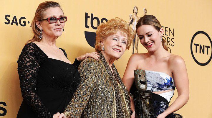Billie Lourd, Debbie Reynolds y Carrie Fisher
