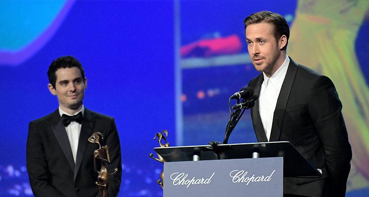 Ryan Gosling en su discurso durante el festival de Palm Springs