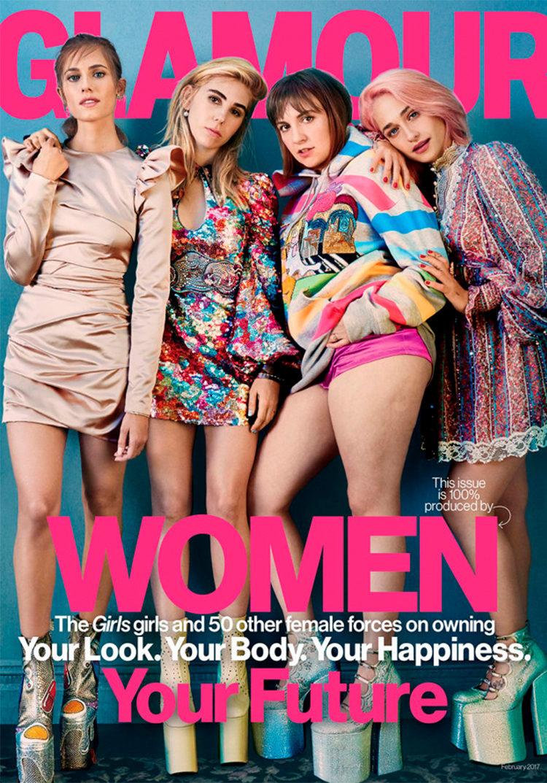Portada de la revista Glamour americana con las protagonistas de 'Girls'