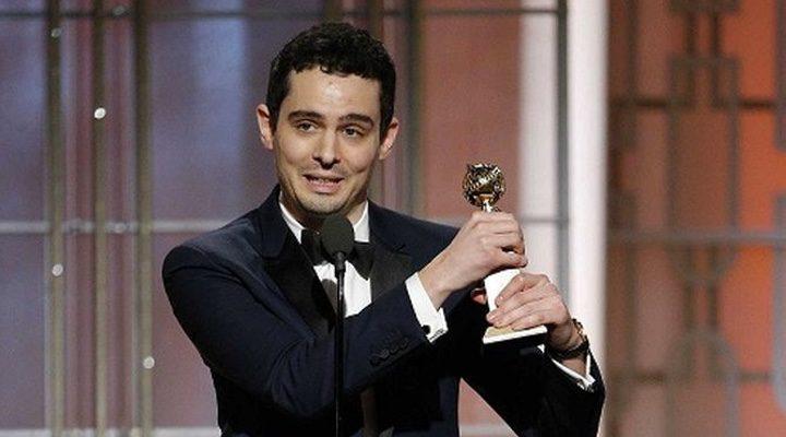 Damien Chazelle agradeciendo el Globo de Oro a Mejor director por 'La ciudad de las estrellas: La La Land'