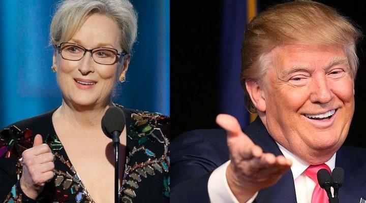 Montaje Meryl Streep y Donald Trump