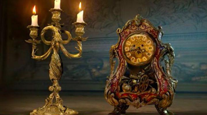 Lumiere y Din Don en la película de acción real 'La Bella y la Bestia'