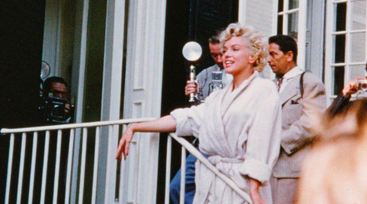 Marilyn Monroe durante el rodaje de 'La tentación vive arriba'