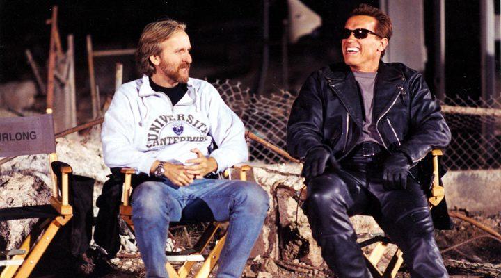 James Cameron y Arnold Schwarzenegger en 'Terminator'