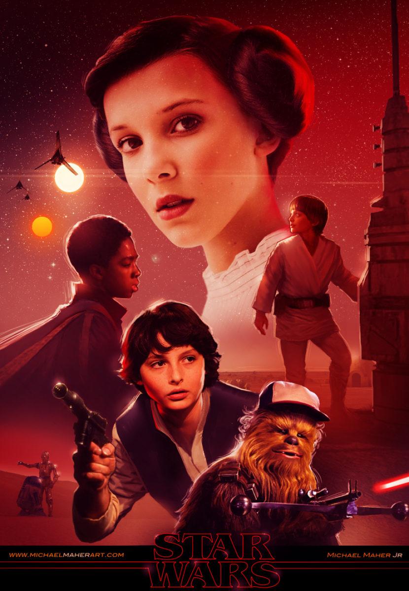 'Stranger Things' y 'Star Wars'