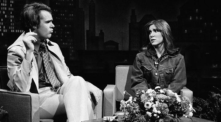 Dan Aykroyd y Carrie Fisher