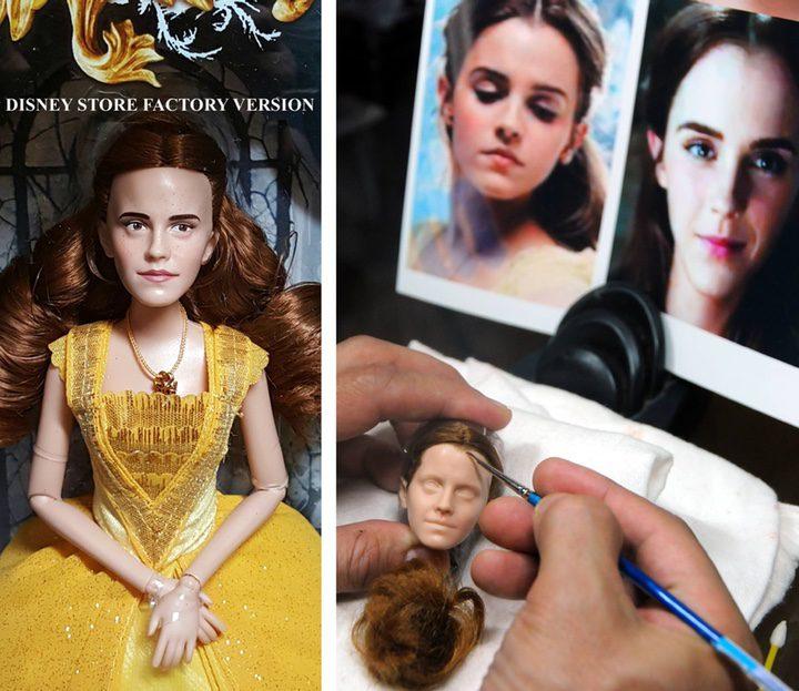 Proceso de trabajo de la muñeca de Bella de 'La Bella y la Bestia'