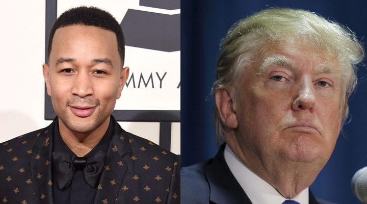 John Legend y Donald Trump