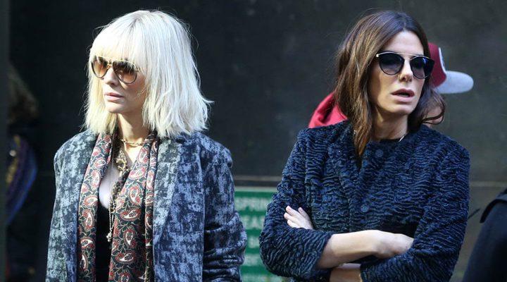 Cate Blanchett y Sandra Bullock en el rodaje de 'Ocean's Eight'
