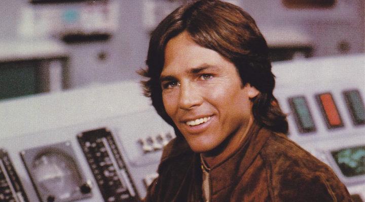 Un joven Richard Hatch en 'Battlestar Galactica'