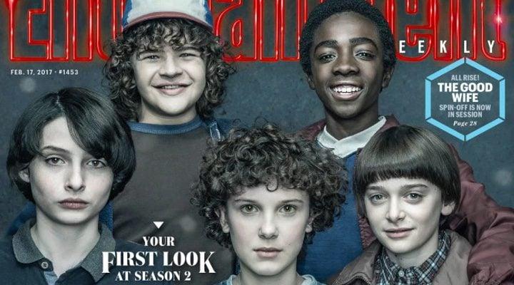 Portada de Entertainment Weekly con los niños protagonistas de 'Stranger Things'