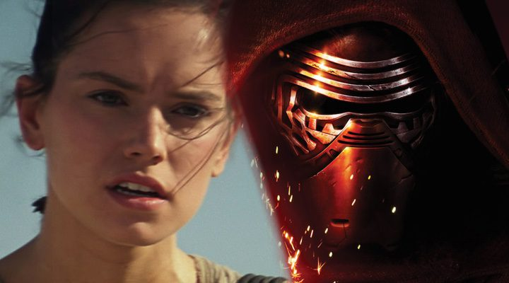 Rey y Kylo Ren de 'Star Wars: El despertar de la fuerza'