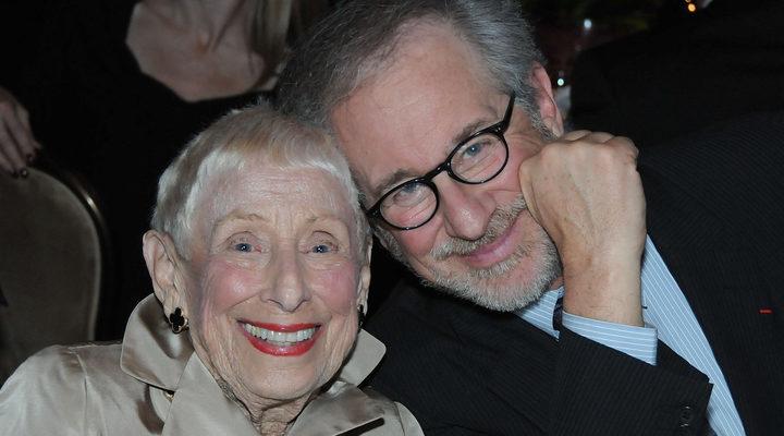 'Leah Adler y Steven Spielberg'