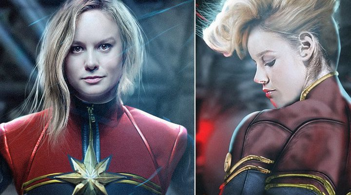 Brie Larson como 'Captain Marvel'