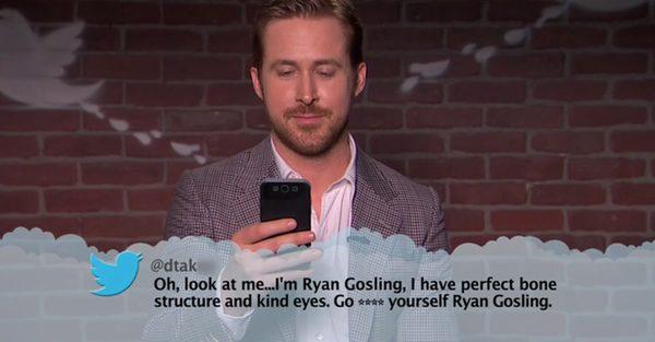 Ryan Gosling leyendo mean tuits